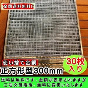 全国送料無料 使い捨て網正方形300mm 30枚
