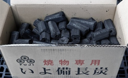 富士炭化工業 国産品 焼物専用いよ備長炭(5-10cm)10kg 愛媛県産 国産品最高峰