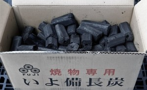 富士炭化工業 国産 オガ備長炭 焼物専用いよ備長炭(5-10cm)10kg  愛媛県産 国産品最高峰