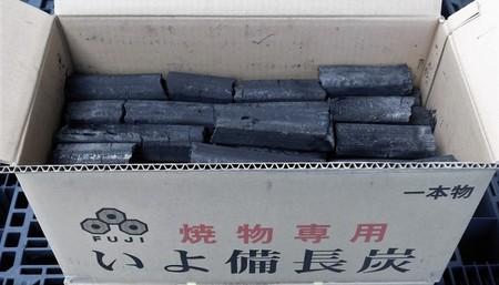 富士炭化工業 国産品 焼物専用いよ備長炭一本物10kg 愛媛県産 国産品最高峰