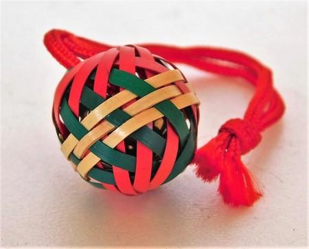 伝統 工芸 和雑貨 竹鈴渦巻根付 手作り 民芸品