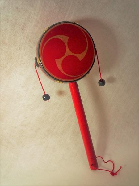 伝統 工芸 デンデン太鼓 (小) 巴 和雑貨 手作り 民芸品