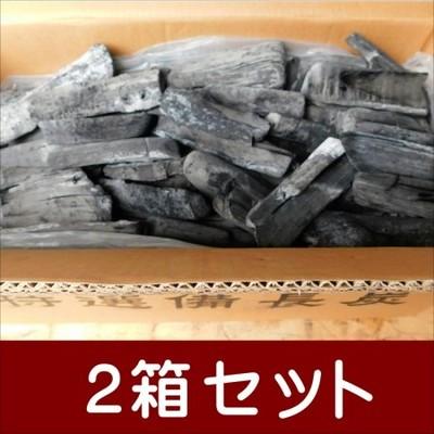 (送料無料 事業者限定) 備長炭 ラオス備長炭割M6-15kg 2箱セット 高品質なマイチュー炭