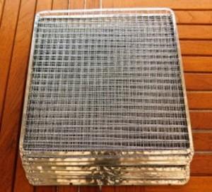 焼き網 バーベキュー 使い捨て網正方形300mm 20枚