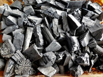 木炭 大分樫炭(かし炭) 荒炭(3-6cm)3Kg 七輪の炭火焼きにお薦め