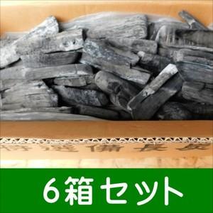 (事業者限定 送料無料) ラオス備長炭割M6-15kg 6箱セット 高品質なマイチュー炭