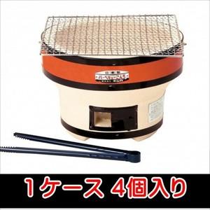 キンカ バーベキューコンロ(丸型)1ケース(4個入) 送料無料