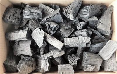 木炭 炭 大分の椚(くぬぎ)荒炭(5-10cm)3kg箱入り 大分県産 自社製