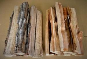 大分の薪 椚(クヌギ)と杉(スギ)のミックス 直径 2-10cm長さ約30cm 5kg